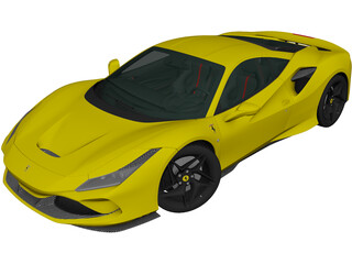 Ferrari F8 Tributo (2019) 3D Model