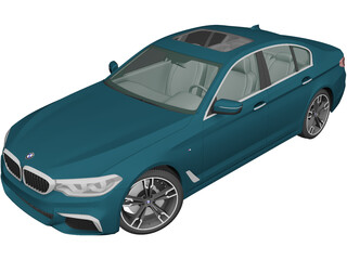BMW M5 Sedan Performance (2017) 3D Model