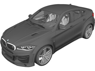 BMW X6 Lumma [+Interior] 3D Model 3D Preview