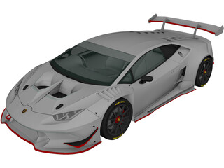 Lamborghini Huracan LP620-2 Super Trofeo (2014) 3D Model