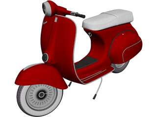 Piaggio Vespa (1962) 3D Model 3D Preview
