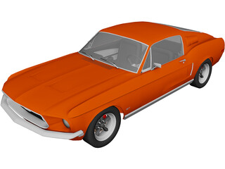 Ford Mustang GT Fastback 390 (1968) 3D Model