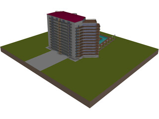 Luxury Building 3D Model
