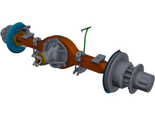 Ford F450 Rear Axle CAD 3D Model