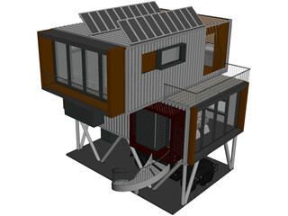 Shipping Container Home 3D Model