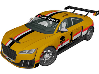 Audi TT RS Clubsport Race Turbo (2021) 3D Model