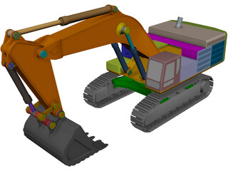 Caterpillar 390F CAD 3D Model