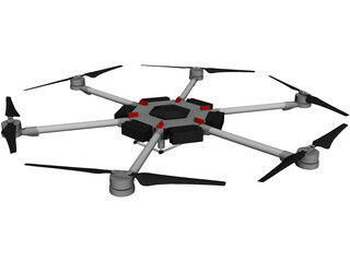 DJI Matrice 600 Hexacopter 3D Model