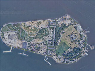New York City, Governors Island, USA (2019) 3D Model