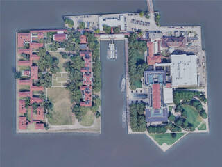 New York City, Ellis Island, USA (2019) 3D Model