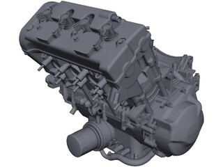 Honda CBR600 F4i Engine CAD 3D Model