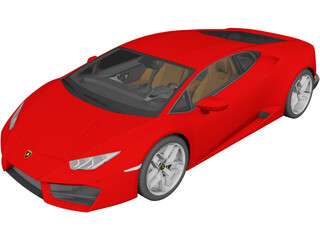 Lamborghini Huracan LP580-2 (2017) 3D Model