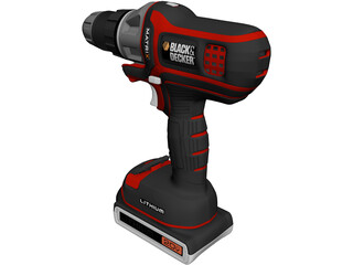 Drill Black and Decker 3D Model