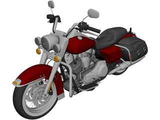 Harley Davidson Road King Classic (2011) 3D Model