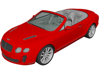 Bentley Continental Supersports Convertible (2011) 3D Model