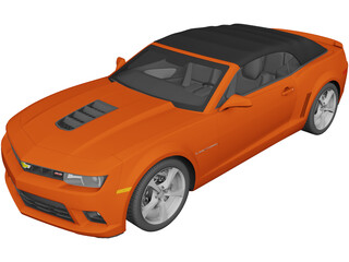 Chevrolet Camaro SS Convertible (2014) 3D Model