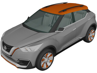 Nissan Kicks Concept (2014) 3D Model 3D Preview