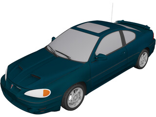 Pontiac Grand Am GT (1999) 3D Model