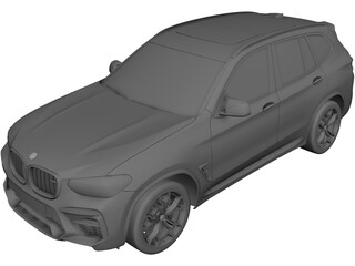 BMW X3 Competition (2020) 3D Model