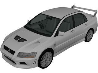 Mitsubishi Lancer Evolution VIII (2001) 3D Model