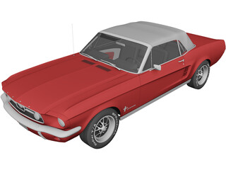 Ford Mustang Soft Top (1967) 3D Model