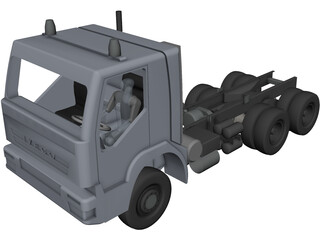 Iveco AD380T 6?6 3820 Chassis 3D Model 3D Preview