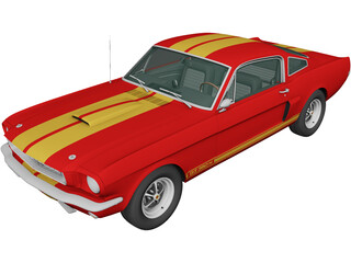Ford Mustang GT350H Shelby [+Interior] (1966) 3D Model