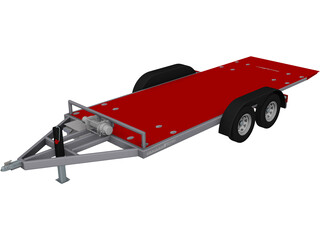 Car Trailer 7000 Lb CAD 3D Model