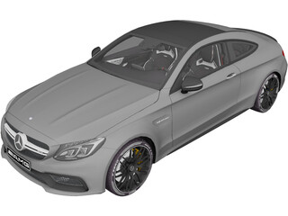 Mercedes-AMG C63S Coupe (2016) 3D Model