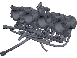 Honda CBR 600 RR Engine Intake CAD 3D Model