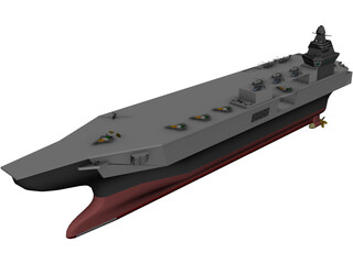 INS Vishal Super Carrier 3D Model