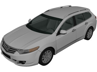 Honda Accord Tourer (2009) 3D Model
