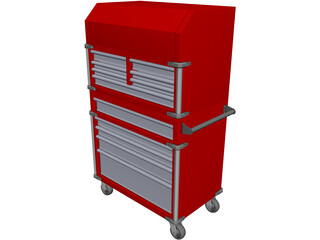 Milwaukee Toolbox CAD 3D Model