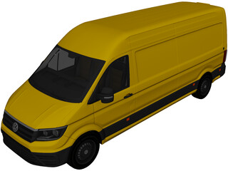 Volkswagen Crafter Cargo (2017) 3D Model