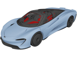 McLaren Speedtail (2018) 3D Model
