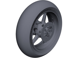 KTM RC8 Rear Wheel CAD 3D Model