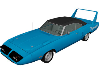 Plymouth Road Runner Superbird (1970) 3D Model