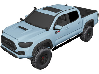 Toyota Tacoma Double Cab (2019) 3D Model 3D Preview