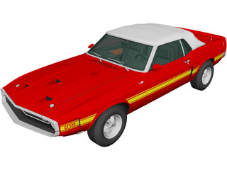 Ford Mustang GT500 Shelby Convertible (1969) 3D Model