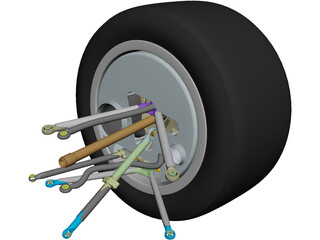 Perrinn LMP1 Prototype Front Suspension CAD 3D Model