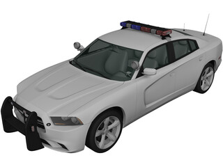 Dodge Charger Police (2011) 3D Model 3D Preview