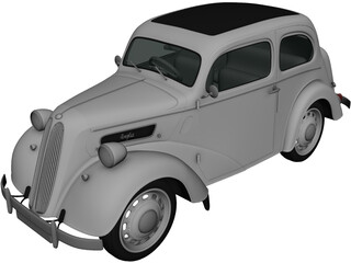 Ford Anglia E494A 2-door Saloon (1949) 3D Model