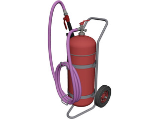 Foam Extinguisher 50L CAD 3D Model
