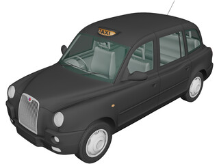 LTI TX4 London Taxi (2006) 3D Model