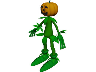 Pumpkin Man 3D Model