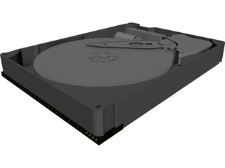 Harddrive (HDD) 3D Model 3D Preview