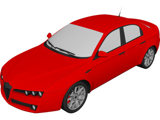 Alfa Romeo 159 Sedan 3D Model 3D Preview