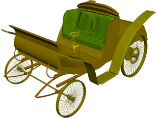 Benz Velo Old Car 3D Model