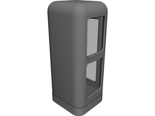 Phone Booth Germany 3D Model