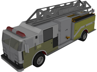 Single Axle Fire Rescue 3D Model